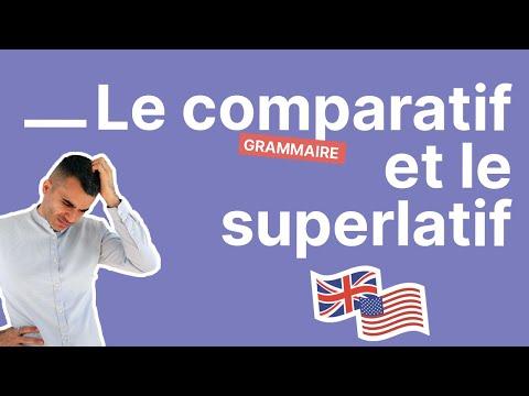 Comment former le comparatif et le superlatif de supériorité en anglais - partie 3