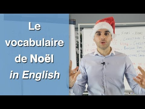 Le vocabulaire de Noël in English