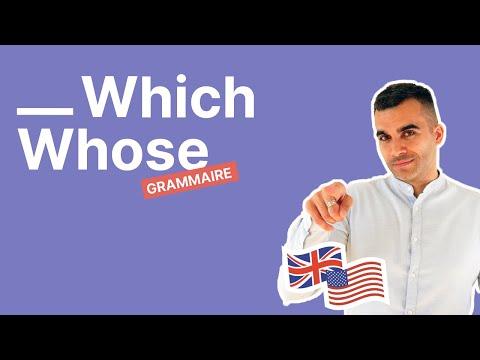 Comment faire la différence entre which et whose en anglais