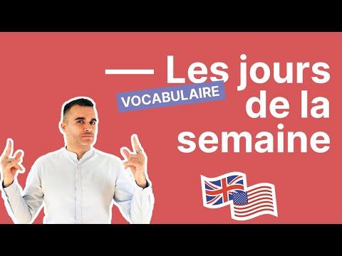 Les jours de la semaine en anglais (guide complet et facile)