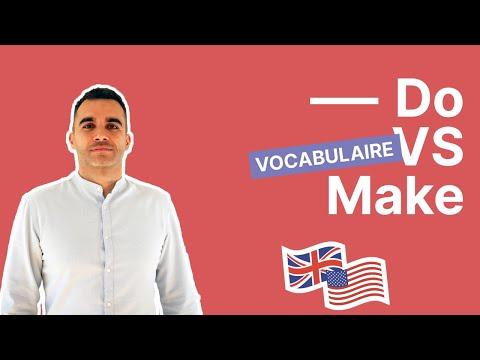 TO DO et TO MAKE : comment faire ENFIN la différence