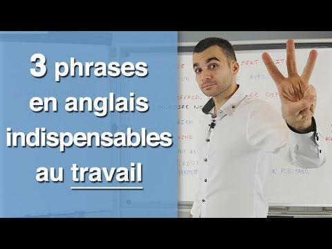 3 phrases en anglais indispensables au travail