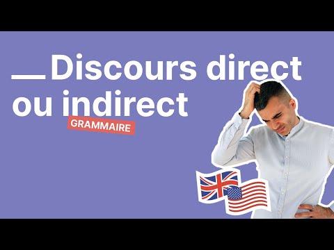Comment bien utiliser le discours direct et indirect en anglais partie 2