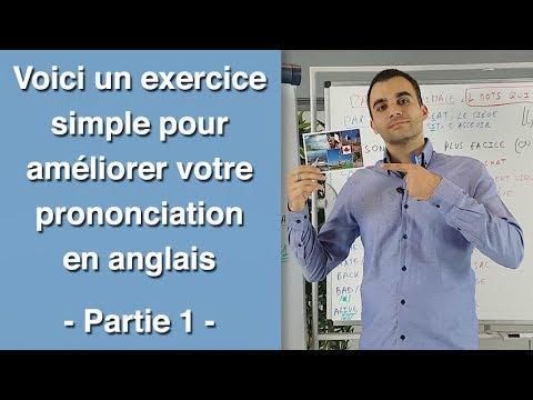 Voici un exercice simple pour améliorer votre prononciation en anglais - partie 1