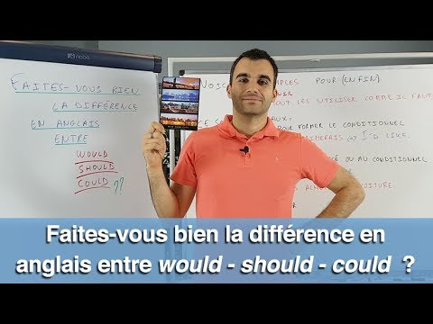 Faites-vous bien la différence en anglais entre WOULD - SHOULD - COULD