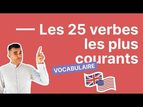 Les 25 verbes les plus courants en anglais : la liste à connaître absolument (exemples inclus)