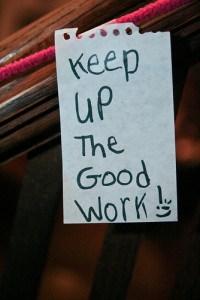continue à toujours bien travailler