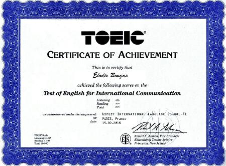 Certificat TOEIC