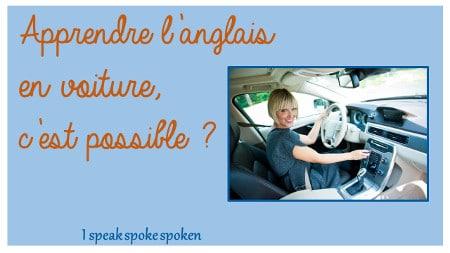 apprendre l'anglais en voiture