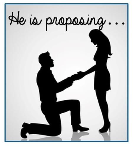 he is proposing