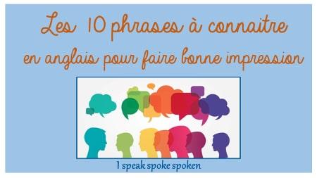 les 10 phrases à connaitre en anglais