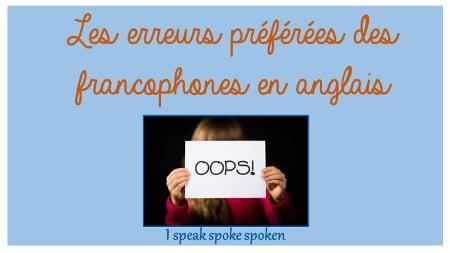 les erreurs preferees des francophones