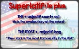 superlatif anglais : le plus