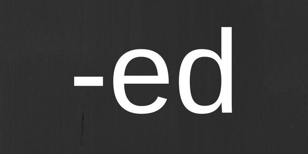 prononcer le -ed