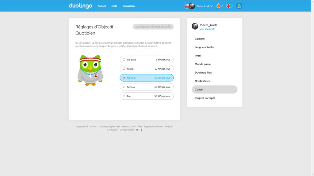 Duolingo : expérience