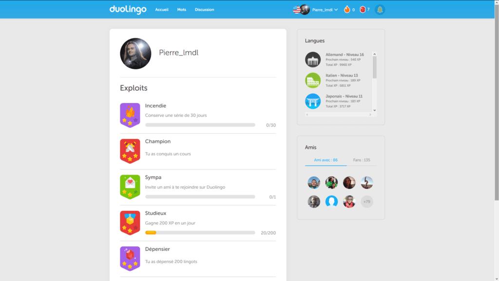 Duolingo : exploits