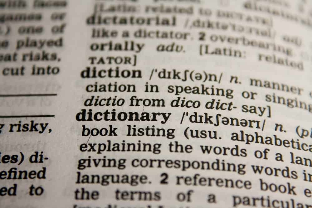 dictionnaire, dictionary