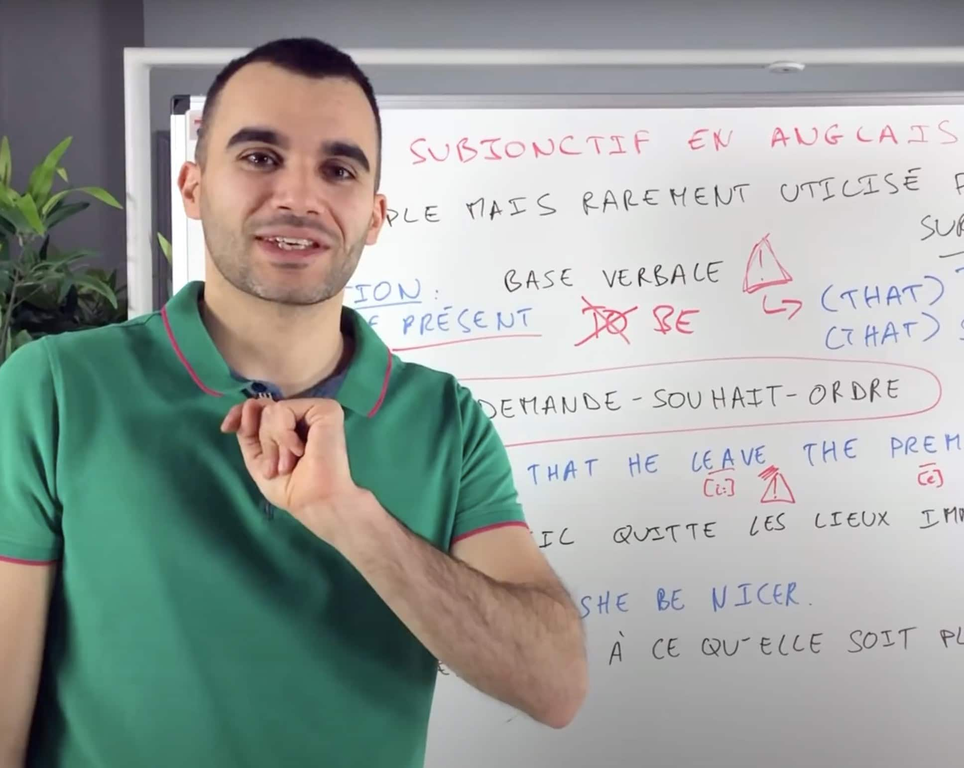 Adrien Jourdan : cours d'anglais sur Youtube