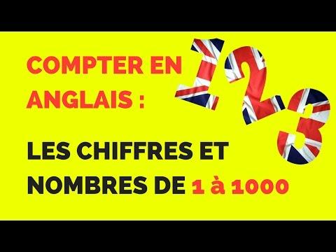 Les Chiffres Et Nombres En Anglais Compter Jusqu A 1000